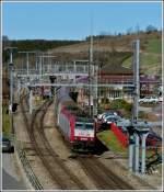 Verschiedenes/187490/ausfahrt-aus-dem-bahnhof-von-troisvierges Ausfahrt aus dem Bahnhof von Troisvierges. 26.03.2012 (Jeanny)