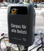 diverses/13795/serie-berliner-muelleimer-vi-corpus-fr Serie Berliner Mülleimer VI: Corpus fr alle Delicti. - 2.April 2009