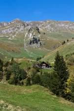 Diverses/175759/bienzer-planalp-1346-m-ue-m Bienzer Planalp (1346 m ü. M) am 01.10.2011, ein Blick Bergauf.