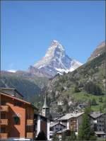 Diverses/9943/aussicht-auf-zermatt-und-das-matterhorn Aussicht auf Zermatt und das Matterhorn. 31.07.07 (Jeanny)